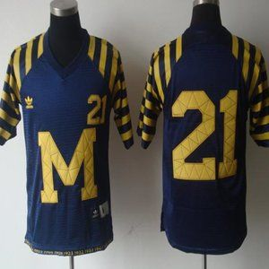 Youth Michigan Wolverines 21 Throwback Navy Jersey